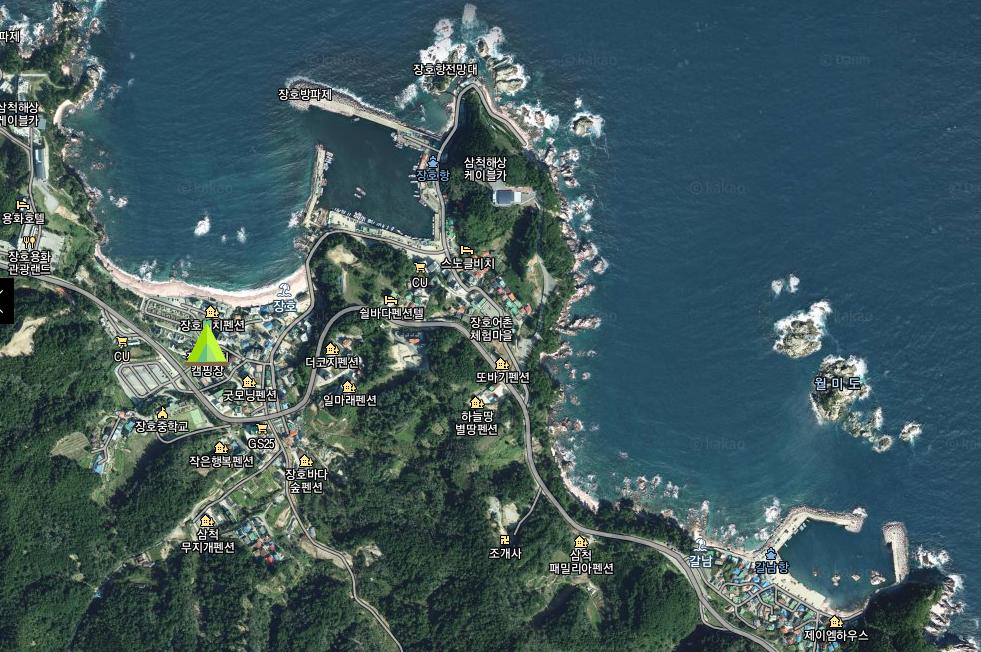 jangho-beach-map